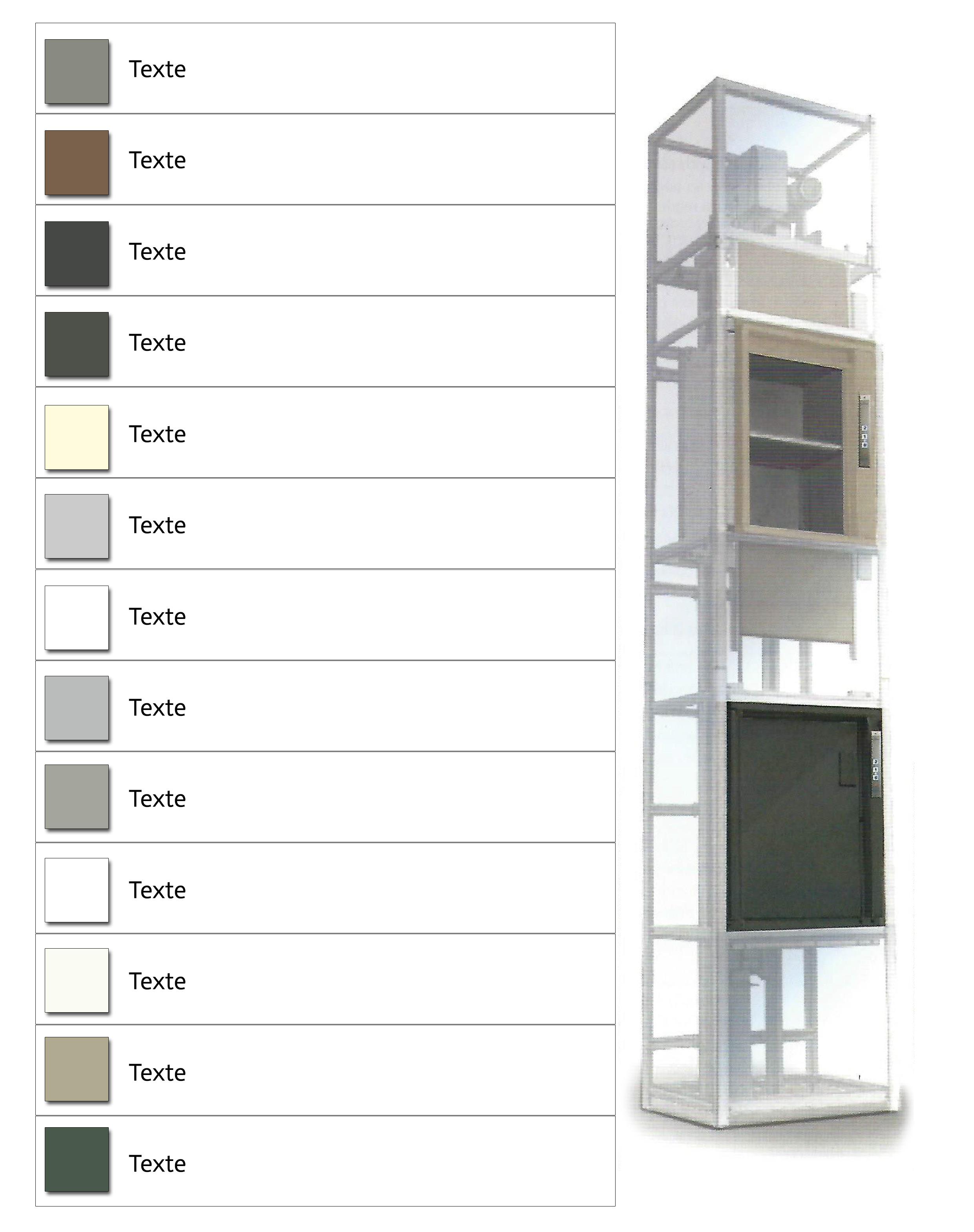monte charges non accompagn s ciel ascenseurs. Black Bedroom Furniture Sets. Home Design Ideas